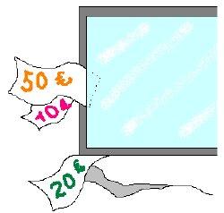 気密断熱の悪い窓からはお金が逃げているのと同様です
